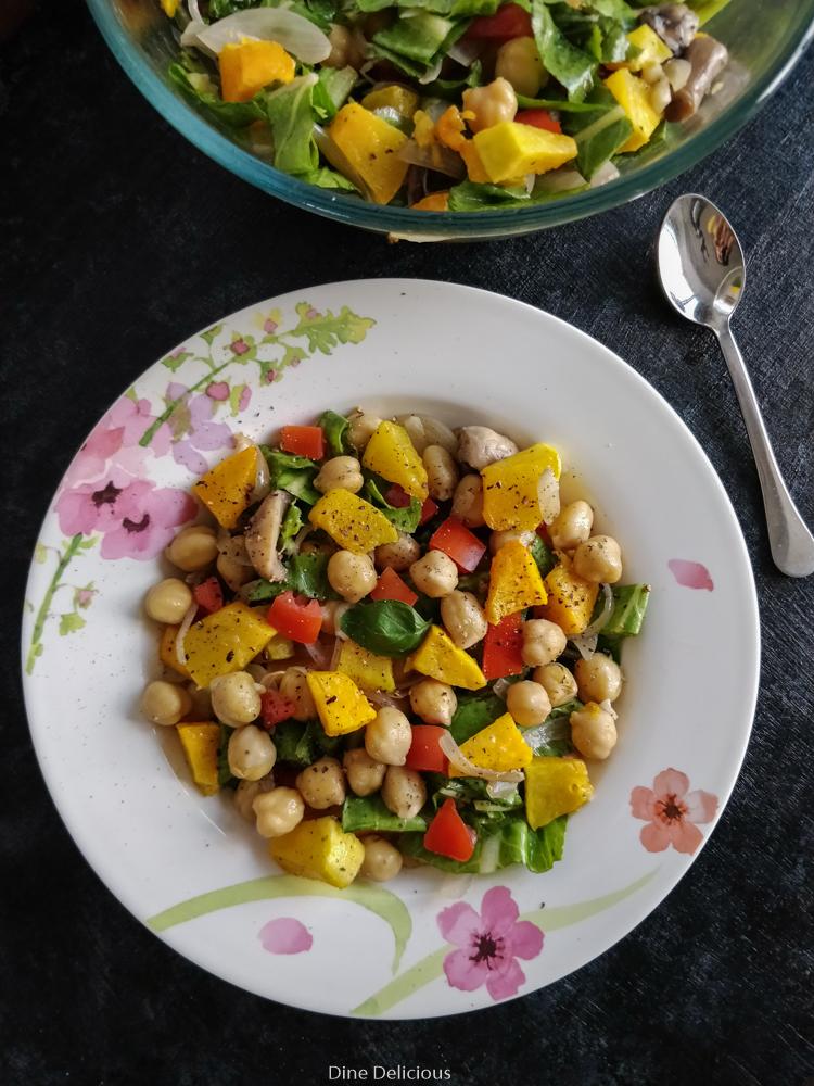 Pumpkin & Chickpea Salad