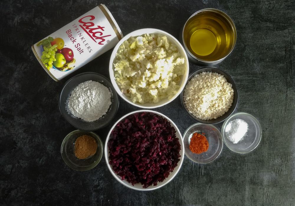 Beetroot Cutlet Recipe Ingredients