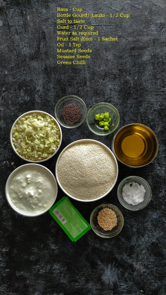 Instant Rava Handvo Ingredients