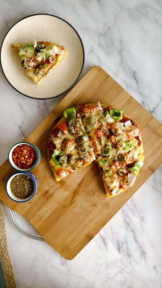 Moong Dal Pizza Recipe