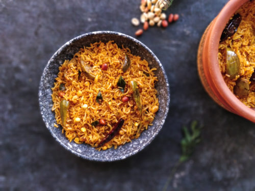 Vangi Bath Recipe, Brinjal Rice