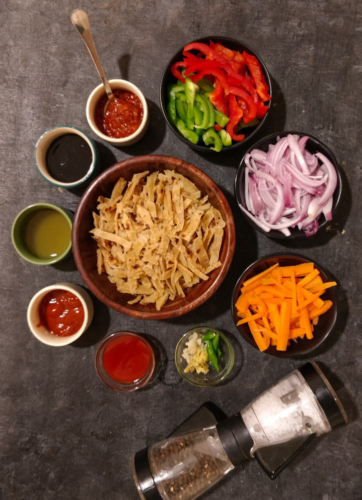 Leftover Roti Noodles Ingredients