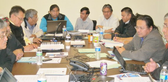 Navajo Nation President Ben Shelly's Energy Advisory Committee met with Council's Resources & Development Committee on the proposed Energy Policy at the Navajo Department of Transportation on Feb. 20, 2013. Photo by Marley Shebala