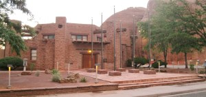 Navajo Councll chambers in Window Rock, Ariz., where Council and standing committees meet. Photo by Marley Shebala