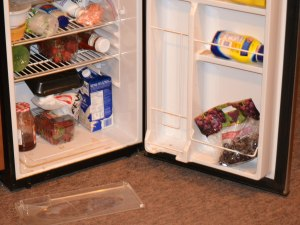 Office of the Speaker staff may have forgotten to close the refrigerator door when they left April 4, 2014.