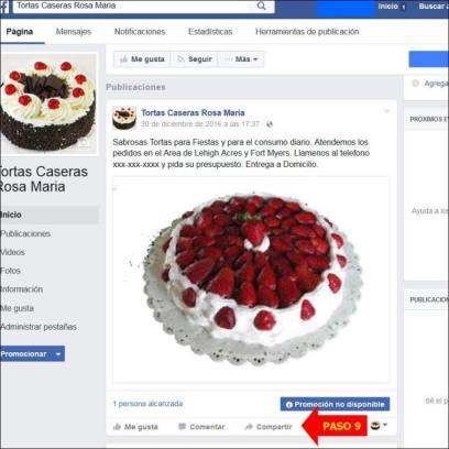 promoción de su negocio en facebook