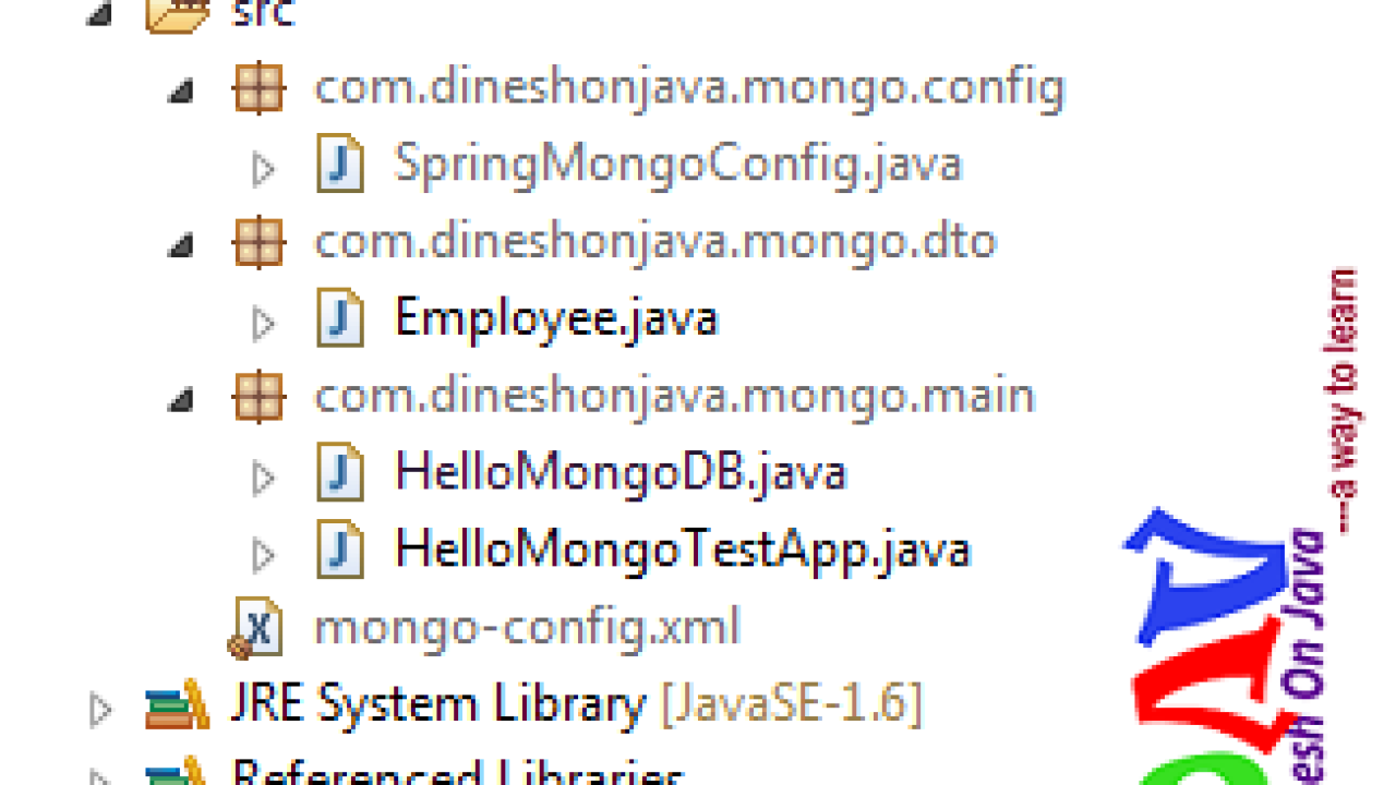 Spring Data MongoDB Insert document - Dinesh on Java