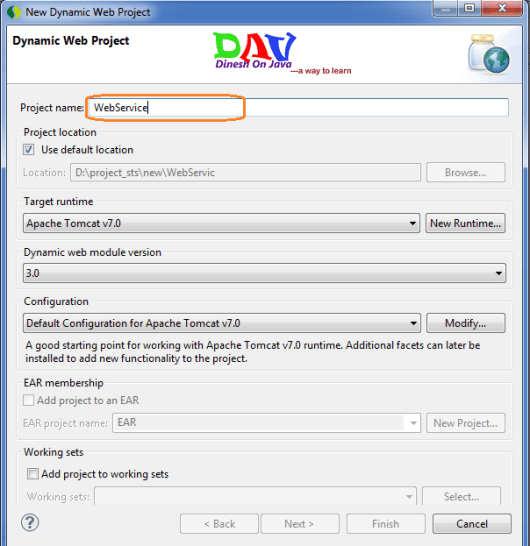 Jax Ws Web Service Example Using Eclipsests Dinesh On Java