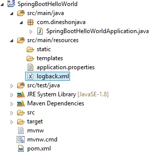 Logging Configuration in Spring Boot