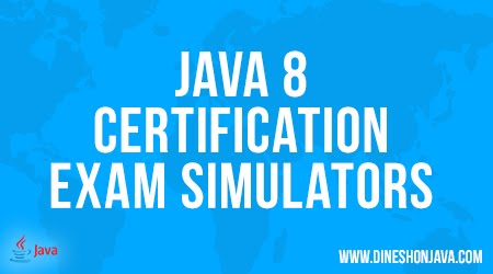 Java 8 Certification Exam Simulators
