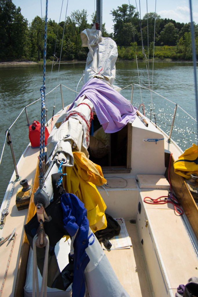 live aboard pearson ariel 26, cruising lake champlain