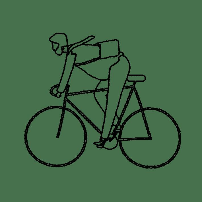 Homme debout vélo Arcachon DINGOVELOS