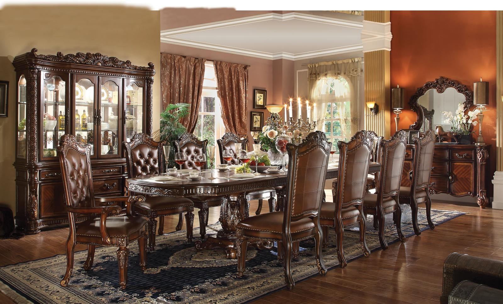 Acme Vendome 11PC Double Pedestal Dining Room Set In