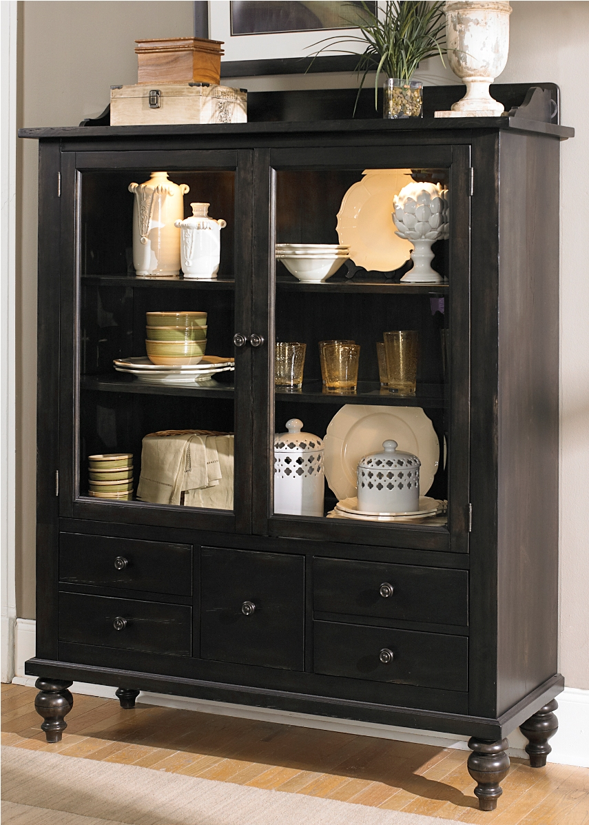 Liberty Furniture Whitney Display Cabinet In Black Cherry