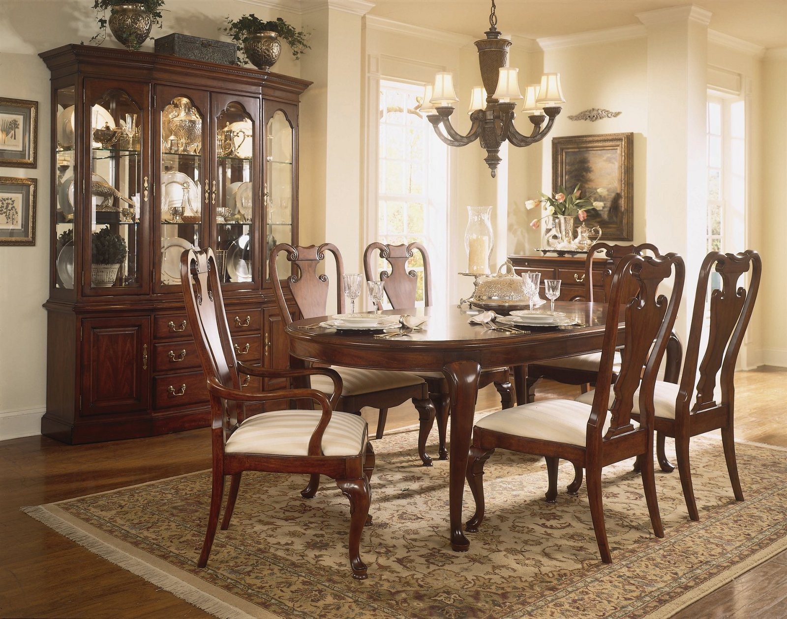 American Drew Cherry Grove 7 Pc Oval Leg Dining Set By