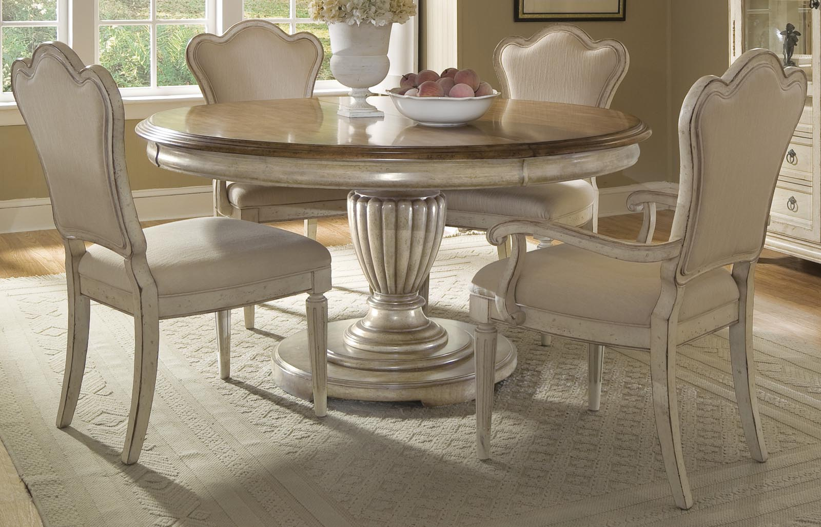ART Provenance 5 Pc Round Dining Set By Dining Rooms Outlet
