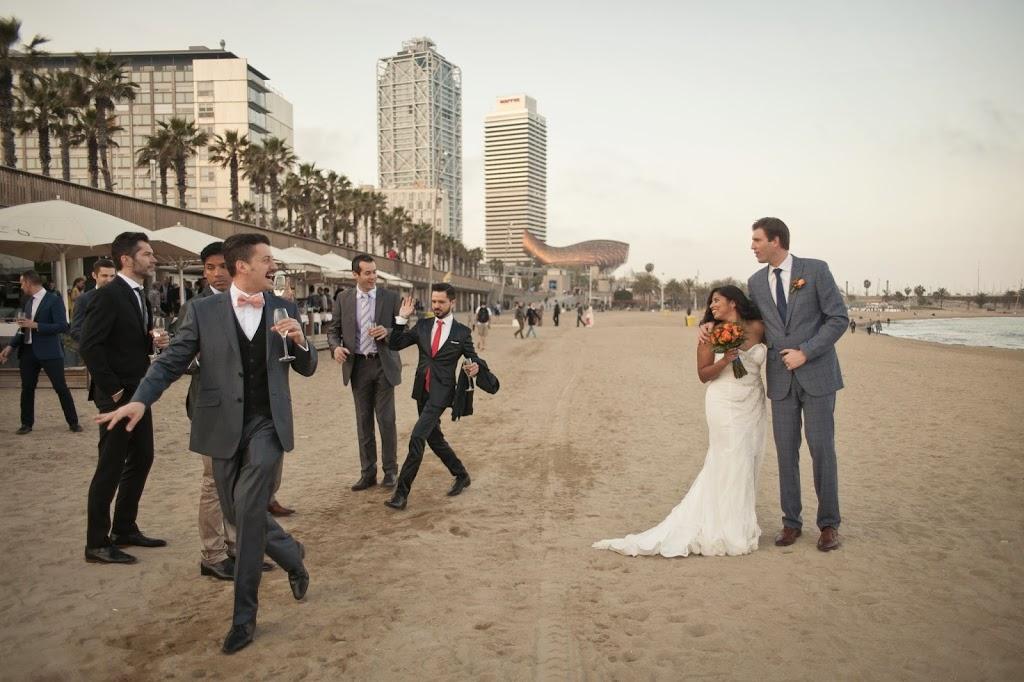 Destination Wedding in Barcelona on the Beach
