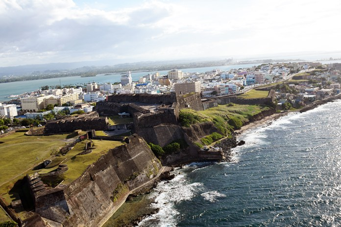 Puerto Rico Helitours Aerial View of Old San Juan