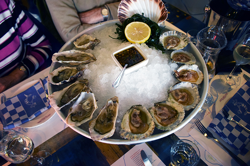 Fresh Oysters at Hotel New York Restaurant in Rotterdam