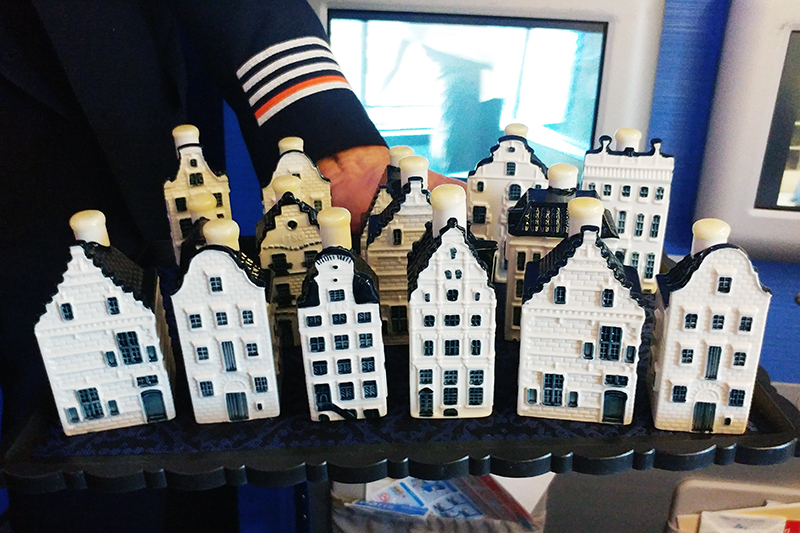 Flying KLM Business Class Amenity: The Delft Blue Miniature Houses