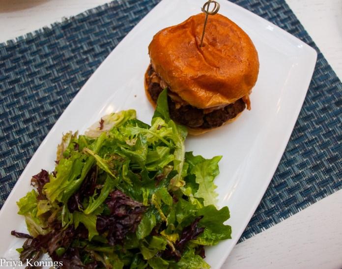 Edamame burger at All Set Restaurant