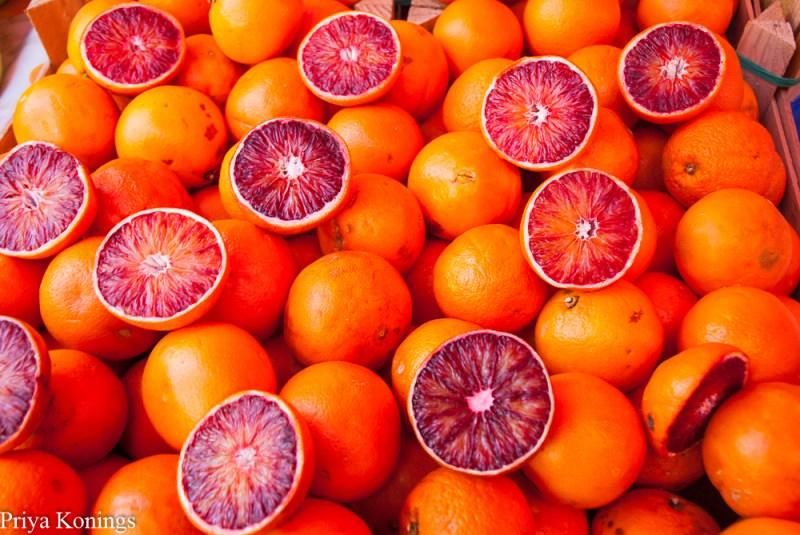 Blood Oranges in Sicily