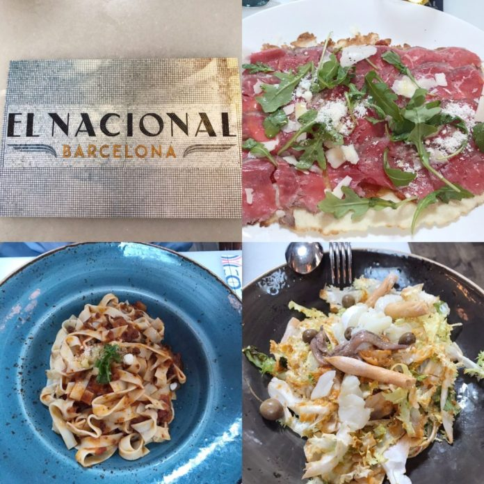 Food at El Nacional Barcelona