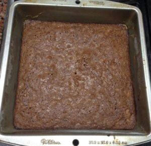 Baked brownies