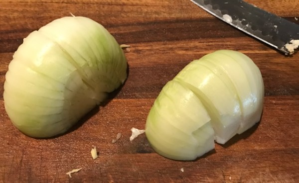 Cutting Board with Onion