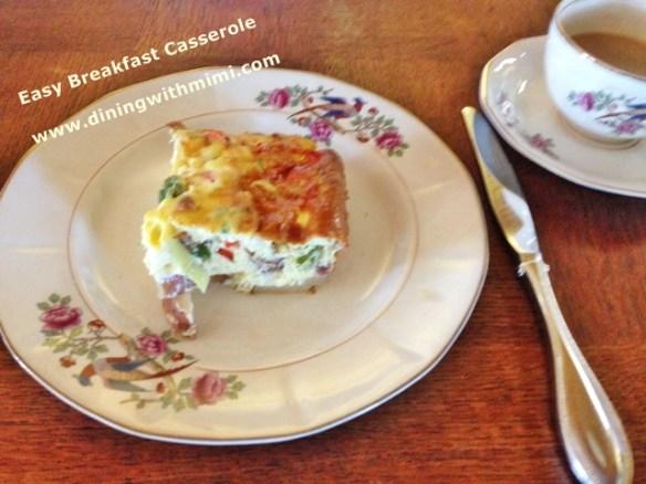 A slice of Easy Breakfast Casserole