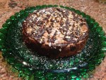 Cafe Cheesecake with Pecans and Drizzled Chocolate