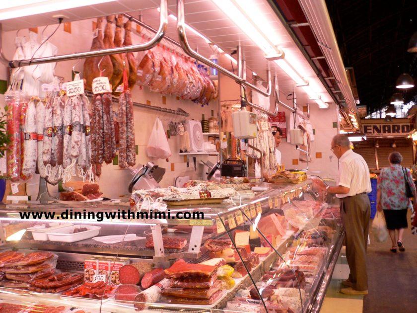 Meat Vendor Barcelona Market