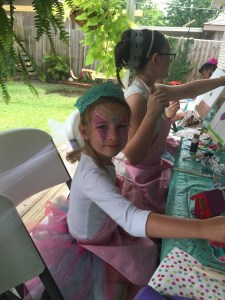 Sweet Girls having fun at the Painting in Tutu's party