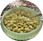 Sweet Baby Lima's in Vintage Jadite Bowl www.diningwithmimi.com