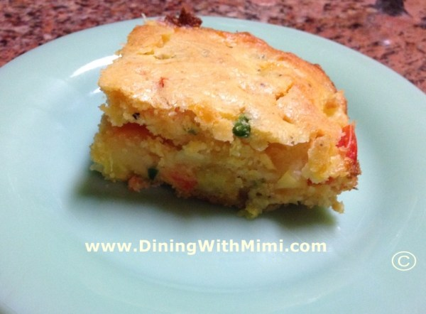 Serving Spicy Squash Pudding www.diningwithmimi.com