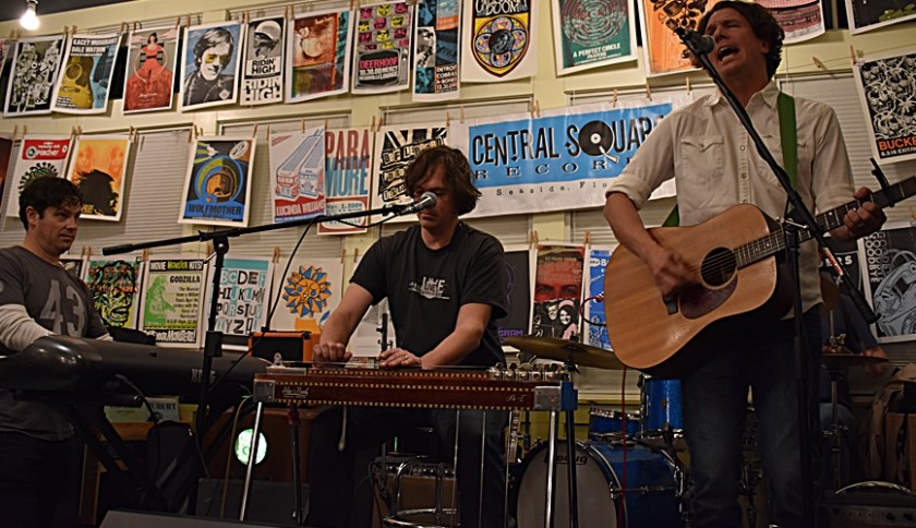 Haraway Brothers Band on stage at Central Square Records Songwriters Festical 2018 www.diningwithmimi.com