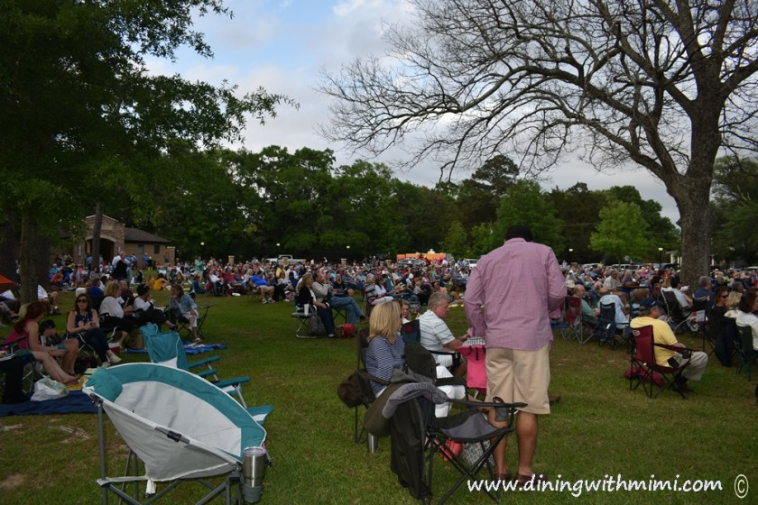 Crowd at Amphitheater at Hip Fairhope Outdoor Event www.diningwithmimi.com