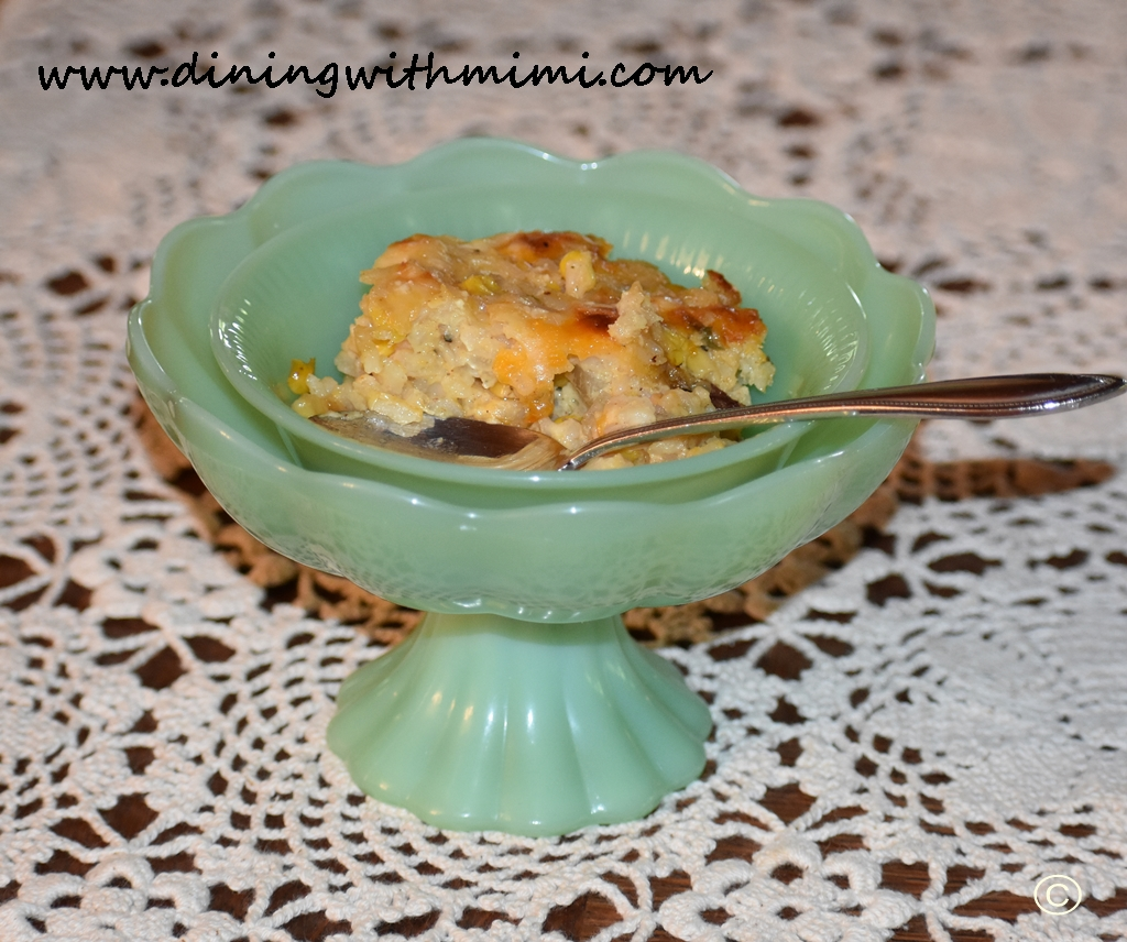 Mimi's Kickin Corn and Rice Casserole