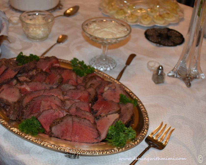 Beef Loin plated for Plan a wine tasting with friends www.diningwithmimi.com