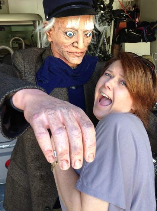 Zombie attacking Mimi Yes, Snake Bitten in Fairhope www.diningwithmimi.com