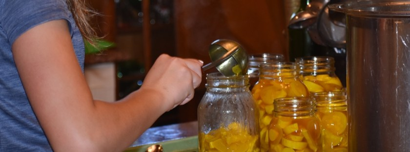Canning Squash Pickles in process for My Fearless Sous Chef in Training www.diningwithmimi.com
