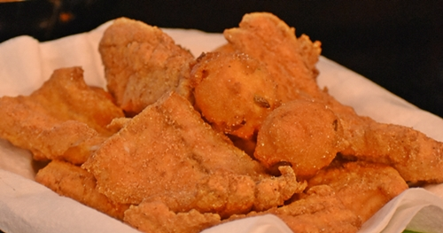 Fried Speckle Trout for Unwind on Dauphin Island www.diningwithmimi.com