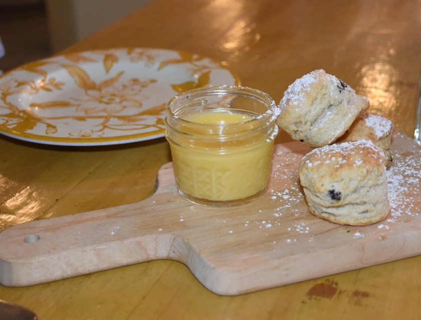Blueberry Scone with Lemon Curd The Standard  Need a quickie- Drop into New Orleans for 48 hours www.diningwithmimi.com