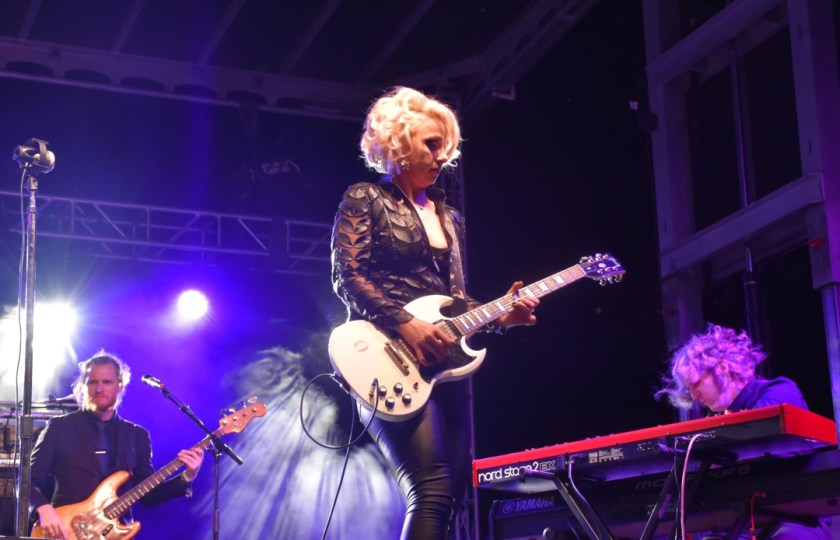 Samantha Fish, Bass Player and Keyboard Brains, Beauty and Slaying a Guitar as Samantha Fish www.diningwithmimi.com