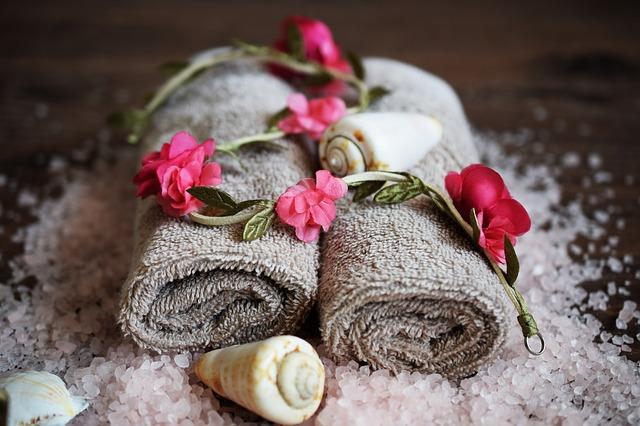 spa towel setup