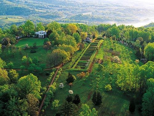Monticello, vedere de sus