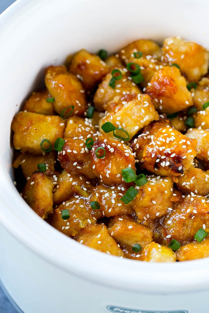 Slow Cooker Chicken Recipes, orange chicken