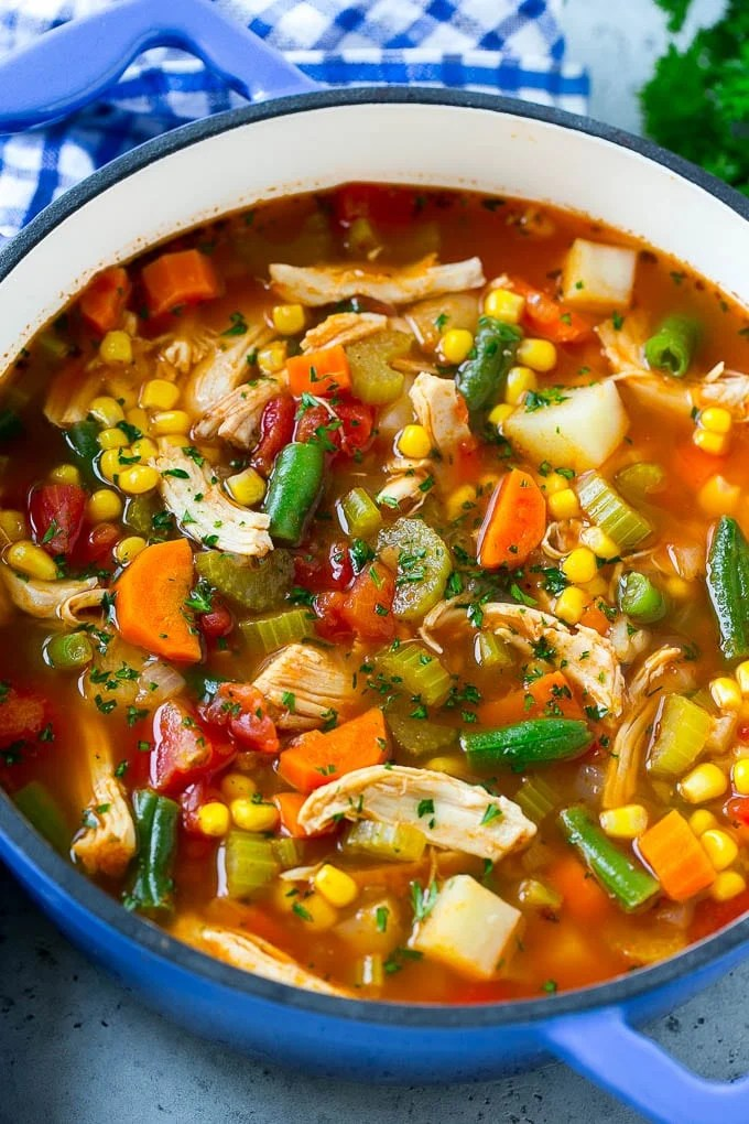 Chicken Vegetable Soup Dinner At The Zoo