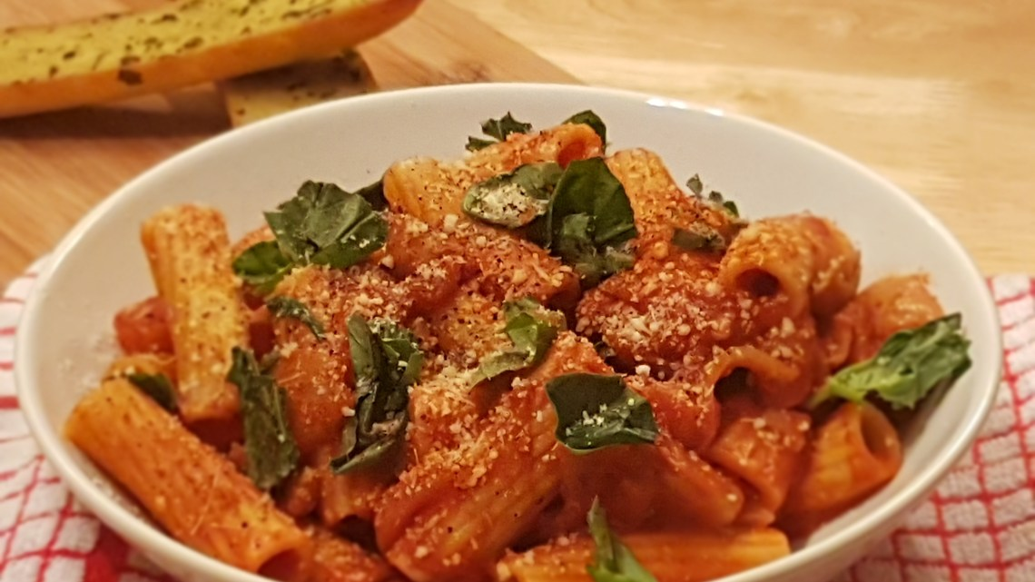 Steak and chorizo rigatoni