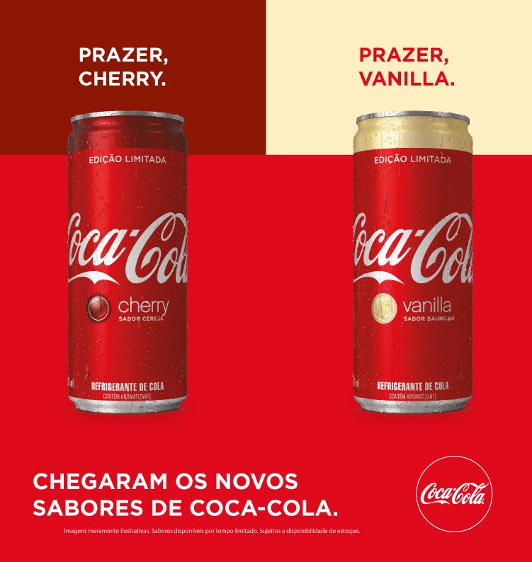 Coca-Cola Cherry e Coca-Cola Vanilla chegam ao mercado brasileiro
